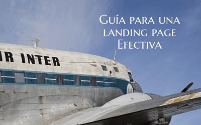 Guía de una landing page efectiva para un escritor