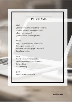 Programa de visibilidad online