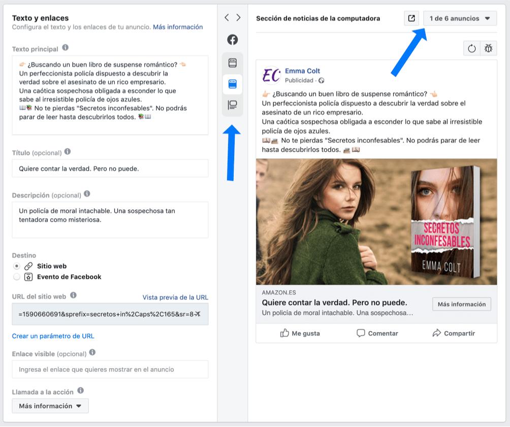 Resultado de anuncio de Facebook Ads